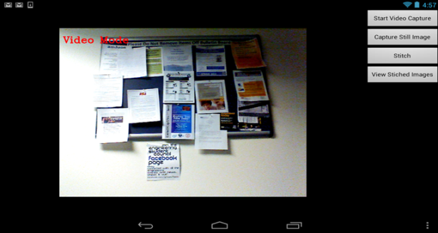 Panorama app GUI